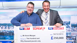 Super 6 winner Kevin Morgan
