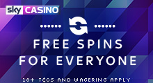 Sky Casino Stake £5 Get 5 Spins