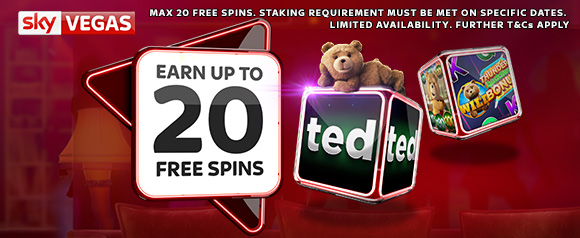 Vegas - Earn 20 Free Spins