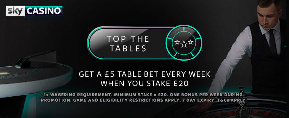 Sky Casino Top the Tables