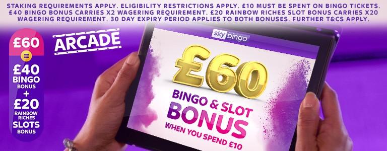 Sky Bingo | Spend £10 get a £60 Bonus