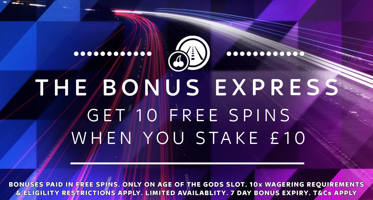 Bonus Express Stake 10 Get 10 FS