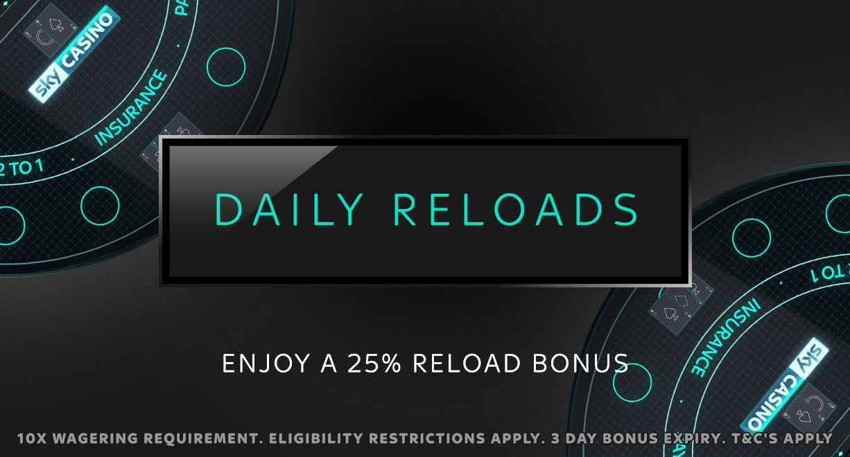 25% Daily Reloads March